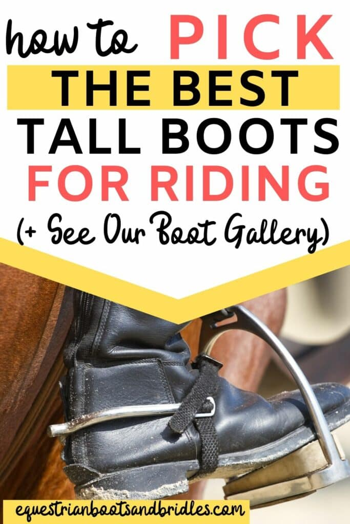 Picking The Best English Riding Boots - how to pick the best tall boots for riding