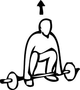 Get into a squat position to stretch your ankles