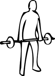 Lift the weight deadlift style