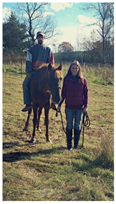 Fury with Equine Angel and her husband four weeks after purchase