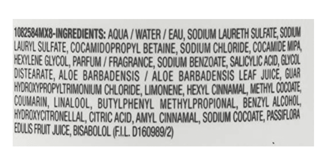 Ingredients for Biolage Hydra Shampoo