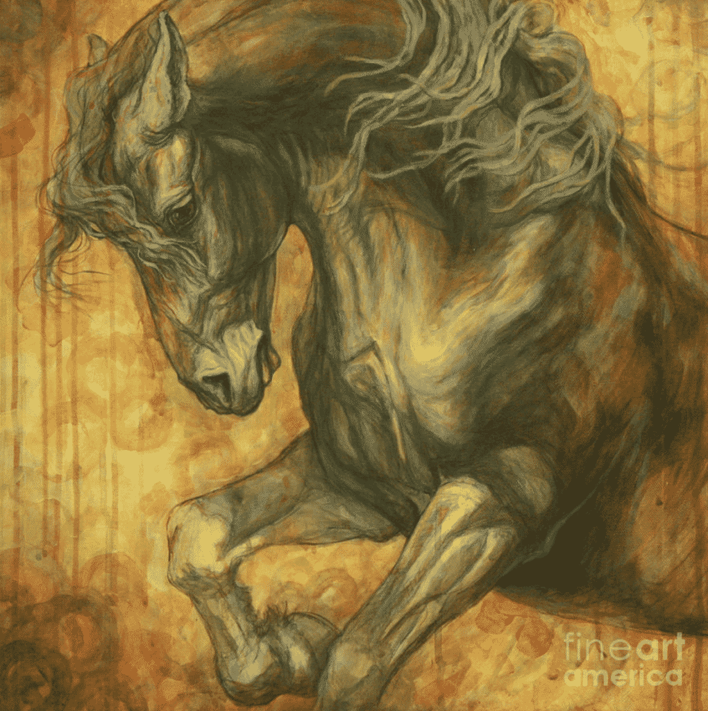 "horse art titled ""Unleashed"" by Silvana Gabudean Dobre"