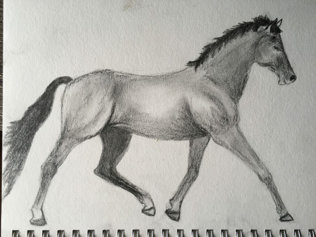 down to business horse art