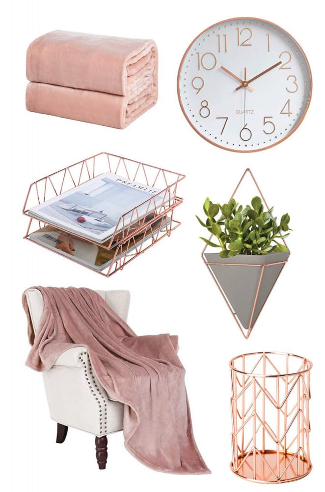 Rose Gold and Glamorous Home Decor