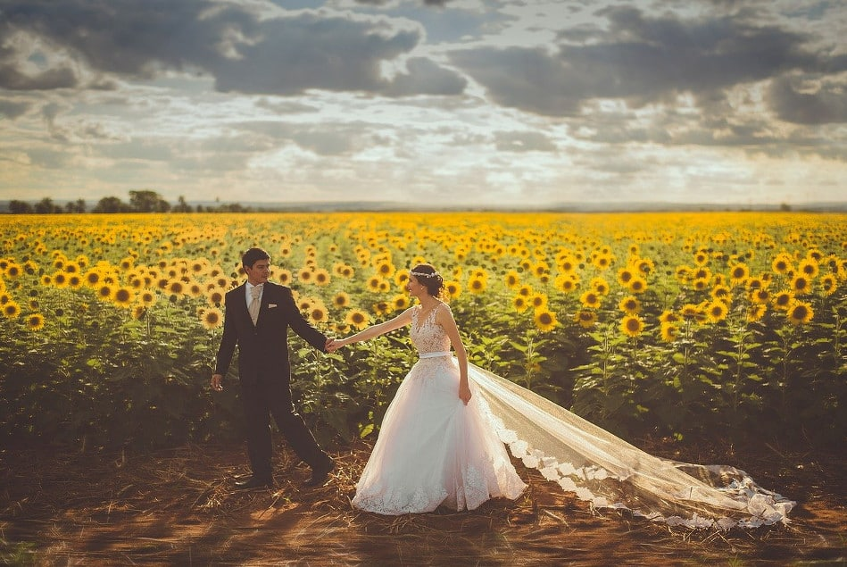 Rustic Wedding in a Wildflower Field