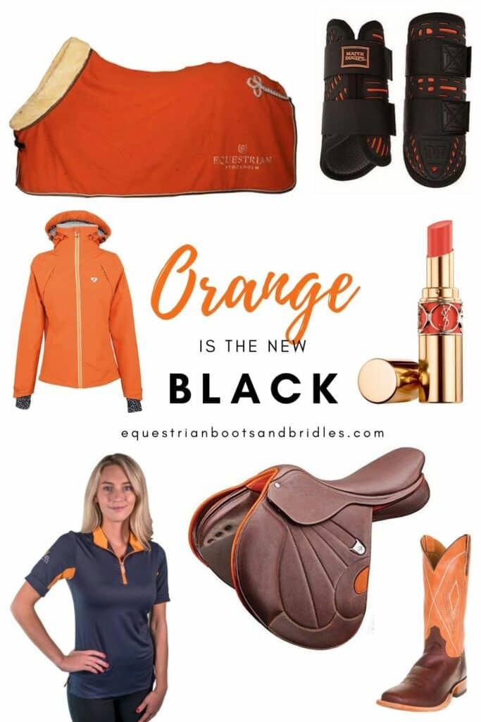 equestrian apparel - orange is the new black