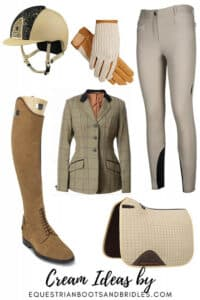classy equestrian wear cream-colored horse riding clothes