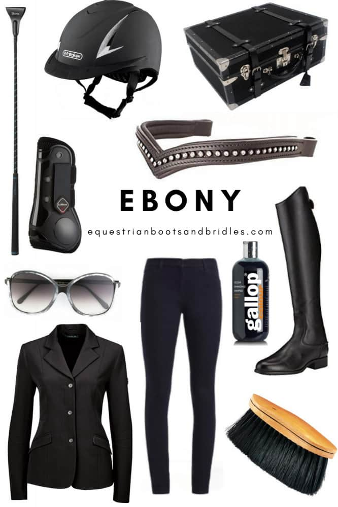 horseback riding outfits - ebony and ivory ideas