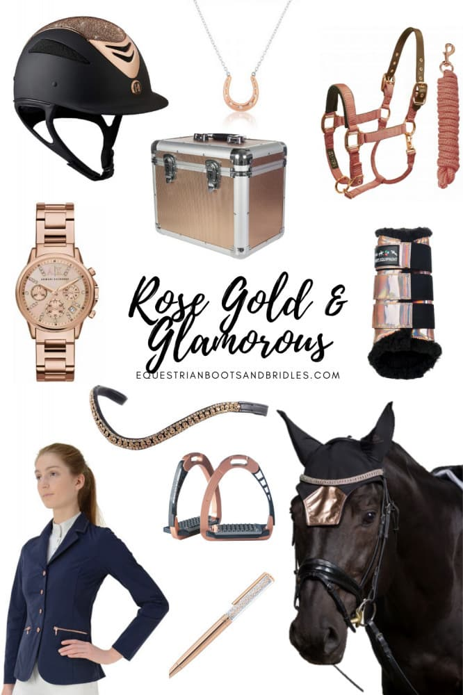 Rose Gold & Glamorous Classy Horse Riding Accessories