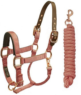Rose Gold & Glamorous - Horse Halter and Lead Rope