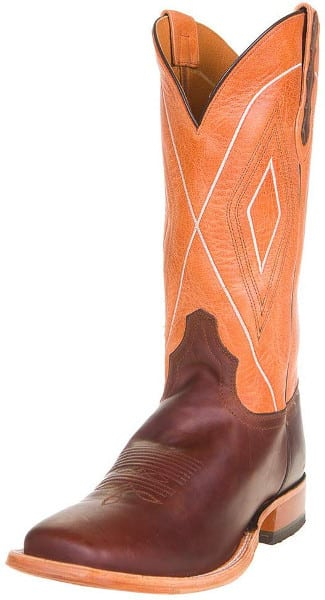 equestrian apparel - Orange Western Riding Boot