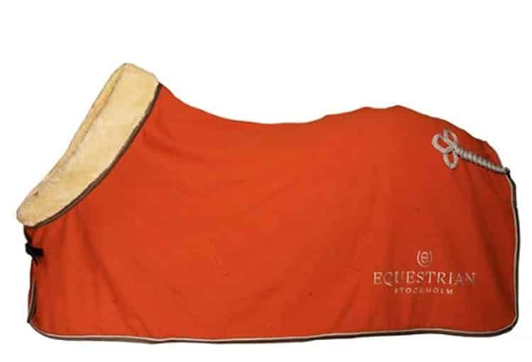 Tangerine Themed Horse Riding Gear - Luxurious Fleece Horse Blanket