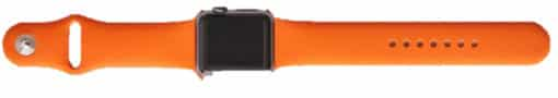 Tangerine Themed Horse Riding Gear - Silicone Orange iWatch Strap
