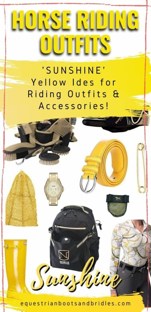 "Horse Riding Outfits - ""Sunshine"" Yellow Ideas"