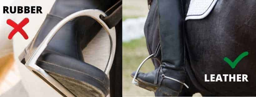 Picking The Best English Riding Boots - leather is better than rubber