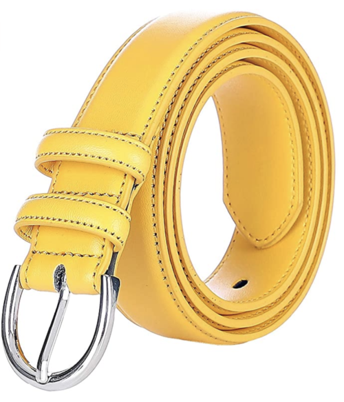 Falari Yellow Leather Belt