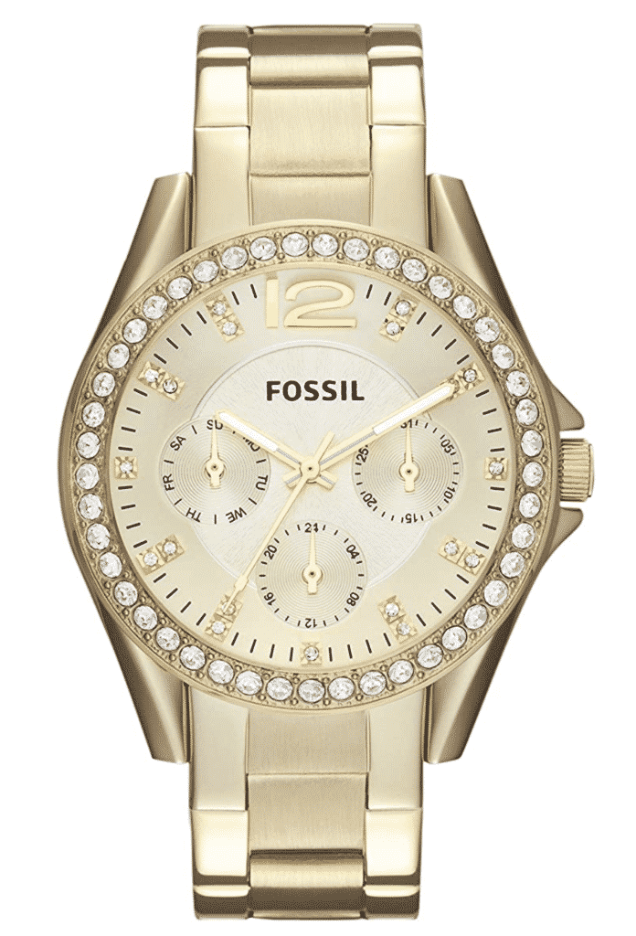 horse riding outfits - Fossil Riley Gold Watch