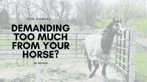 Demanding too much from your horse?