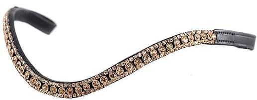 Rose Gold Thin Crystal Wave Black Browband: What to Get Your Horse for Christmas