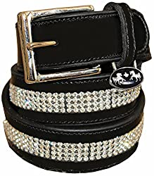Equestrian Wear - Equine Couture Bling Leather Belt