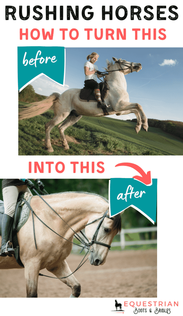 How to slow down a forward going horse?
