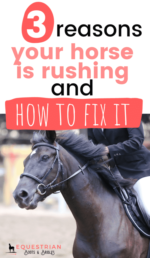 3 Reasons Your Horse Is Rushing & How to Fix It