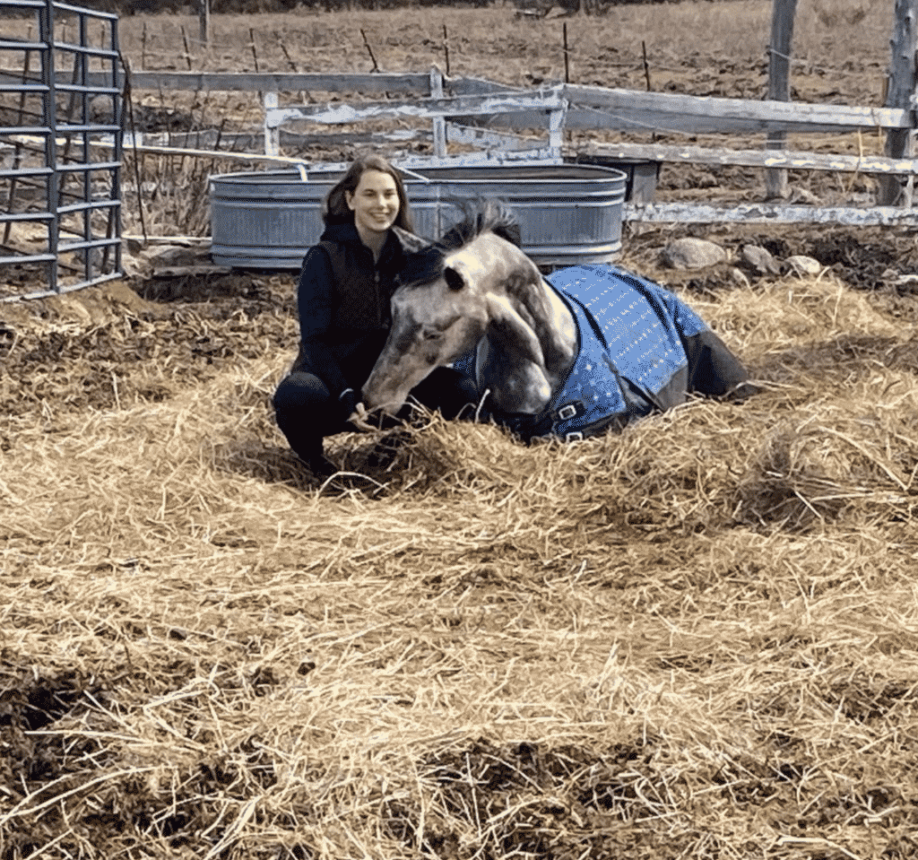 Me and Rudy Bonding Outside in His Paddock